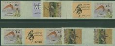 SG 1430-1 1993 Australia's Dinosaur Era self-adhesive set of roll join and tab pairs (AF1/103)
